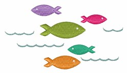 Colorufl Fish embroidery design