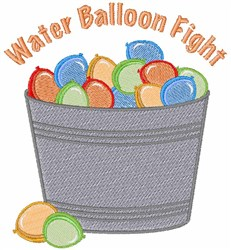 Water Balloon Fight embroidery design