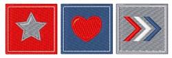 Patriotic Blocks embroidery design