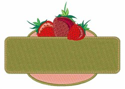Strawberry Sign embroidery design