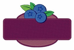 Blueberry Sign embroidery design