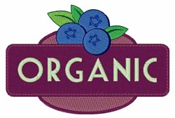 Organic Blueberries embroidery design
