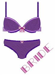 Bride Lingerie embroidery design