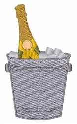 Champagne Bucket embroidery design