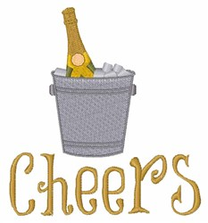 Champagne Cheers embroidery design
