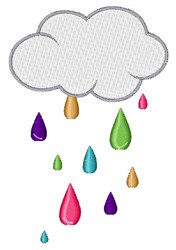 Rain Cloud embroidery design