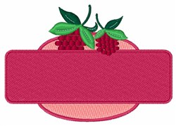 Raspberry Sign embroidery design