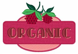 Organic Raspberries embroidery design