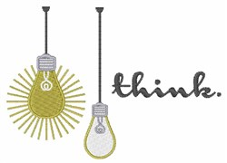 Think Light Bulb embroidery design
