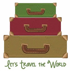 Travel The World embroidery design