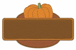 Pumpkin Sign embroidery design