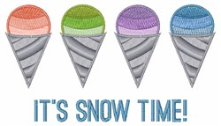Its Snow Time embroidery design