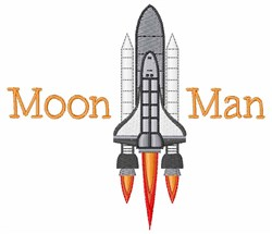 Moon Man embroidery design