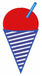 Snow Cone embroidery design