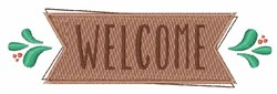 Welcome Sign embroidery design