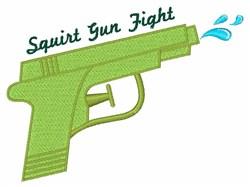 Squirt Gun Fight embroidery design