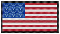 Cross Stitch Flag embroidery design