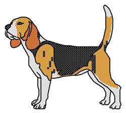 Cross Stitch Beagle embroidery design