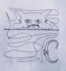 Letter C Quilt Design embroidery design