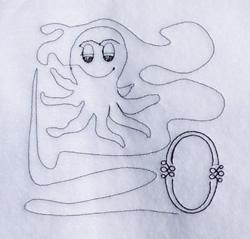 Letter O Quilt Design embroidery design