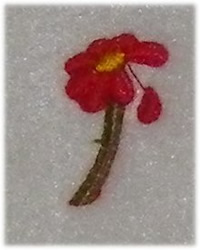 Falling Petal embroidery design