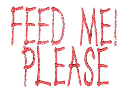 Feed Me Please embroidery design