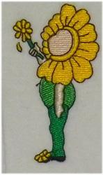 Sunflower Girl embroidery design