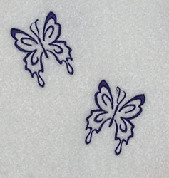Twin Butterflies embroidery design