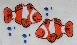Two Clown Fish embroidery design