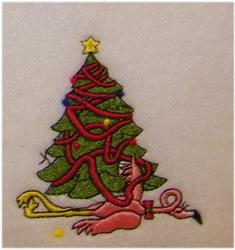 Decorating Flamingo embroidery design