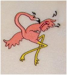 Candy Cane Flamingo embroidery design