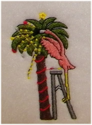 Christmas Palm embroidery design