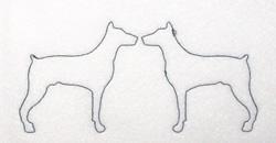 Doberman Outline embroidery design