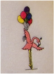 Flamingo Birthday embroidery design