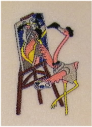 Flamingo Painter embroidery design