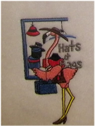 Hats & Bags embroidery design