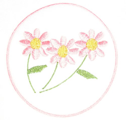Flowers In Circle embroidery design