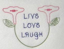 Live Love Laugh embroidery design