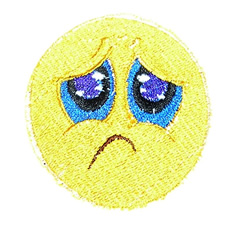 Sad Face embroidery design