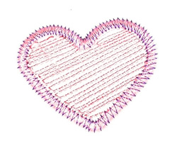 Zigzag Heart embroidery design