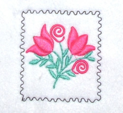 Floral Stamp embroidery design