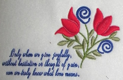Give Joyfully embroidery design