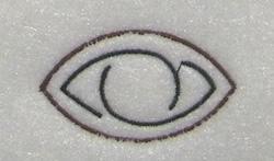 Eye Symbol embroidery design