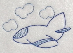 Plane In Clouds embroidery design