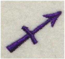 Sagittarius Symbol embroidery design