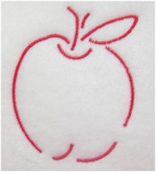 Apple Outline embroidery design