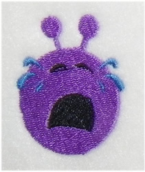 Crying Alien embroidery design