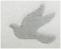 White Dove embroidery design