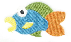 Rainbow Fish embroidery design