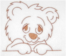 Cute Teddy embroidery design
